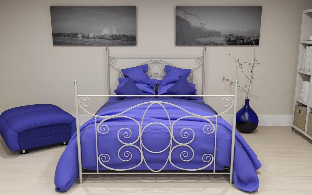 Kolorystyczne akcenty w sypialni